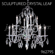 Coleccion Sculptured Crystal Leaf