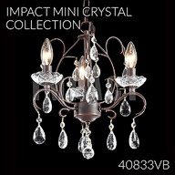 40833VB : Mini Crystal Chandelier Collection