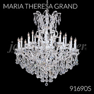 91690S : Large Entry Crystal Chandelier
